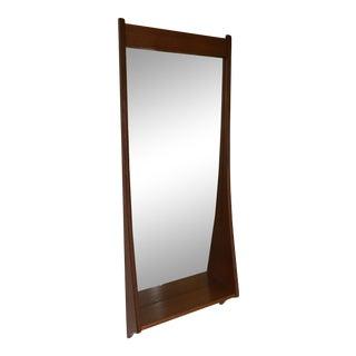 Vintage Pedersen & Hansen Denmark Mid-Century Danish Modern Mirror Shelf For Sale