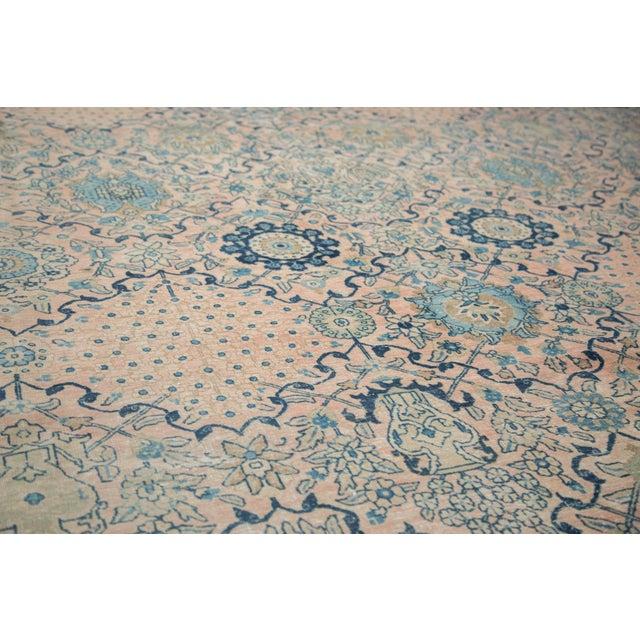 """Vintage Kashan Carpet - 10'1"""" X 14'2"""" For Sale - Image 4 of 11"""