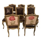 Image of 1990s Vintage Baker Furniture Dining Chairs- Set of 8 For Sale
