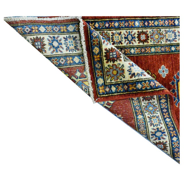 Afghan Afghan Kazak Wool Rug - 2'9'' X 8'7'' For Sale - Image 3 of 4