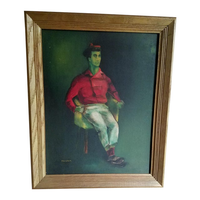 Mid-Century Fauvist Portrait of a Man - Image 1 of 8