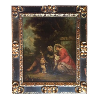 17th Century Old Master Painting Oil on Wood Panel For Sale