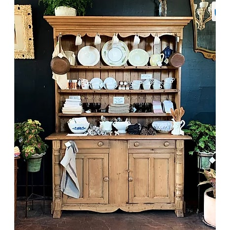 Our jaws dropped when we found this honey-toned stunner. This Antique hutch from 19th Century Scandinavia is an incredible...