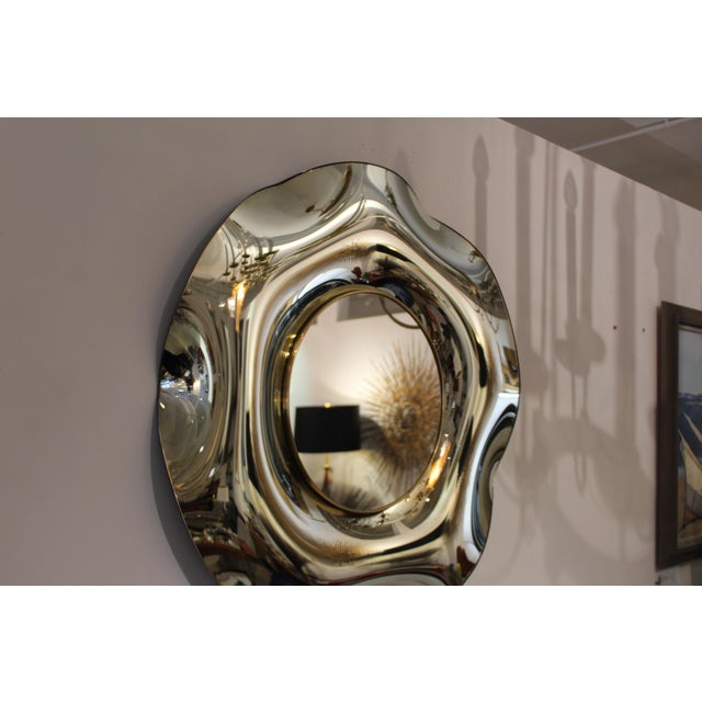 Gold Wave Italian Mirror by Ghiró Studio For Sale - Image 8 of 13
