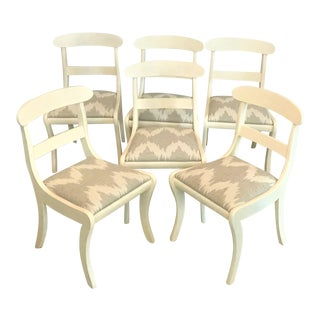 Mid-Century Regency Klismos Dining Chairs - Set of 6
