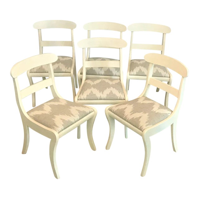 Mid-Century Regency Klismos Dining Chairs - Set of 6 For Sale