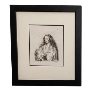 Late 18th Century Rembrandt Etching #33, by Francesco Novelli For Sale
