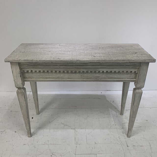 1990s Custom Console With Antique Pediment For Sale - Image 10 of 13