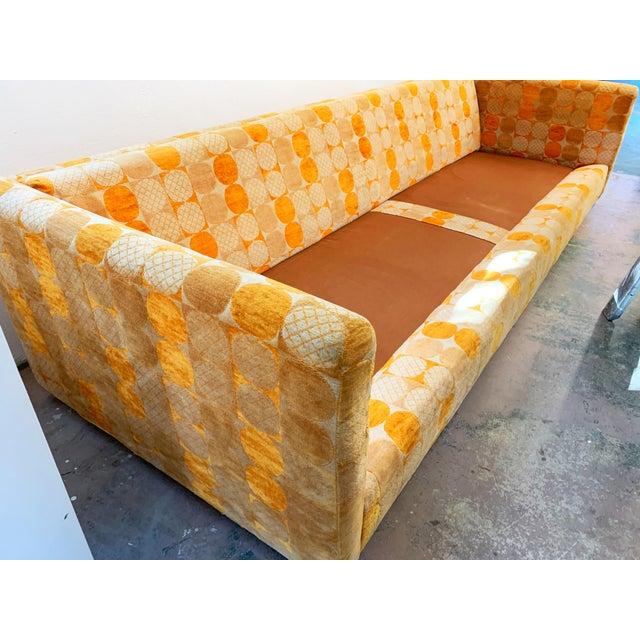 Orange Jack Lenor Larsen Milo Baughman Style Two-Piece L-Shaped Sectional Sofa For Sale - Image 8 of 13