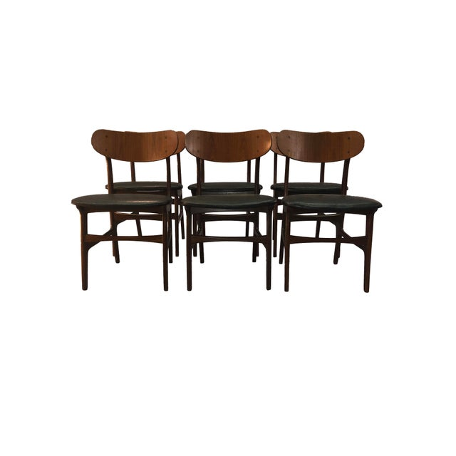 Mid-Century Modern Danish Teak Round Back Dining Chairs - Set of 6 For Sale - Image 3 of 13