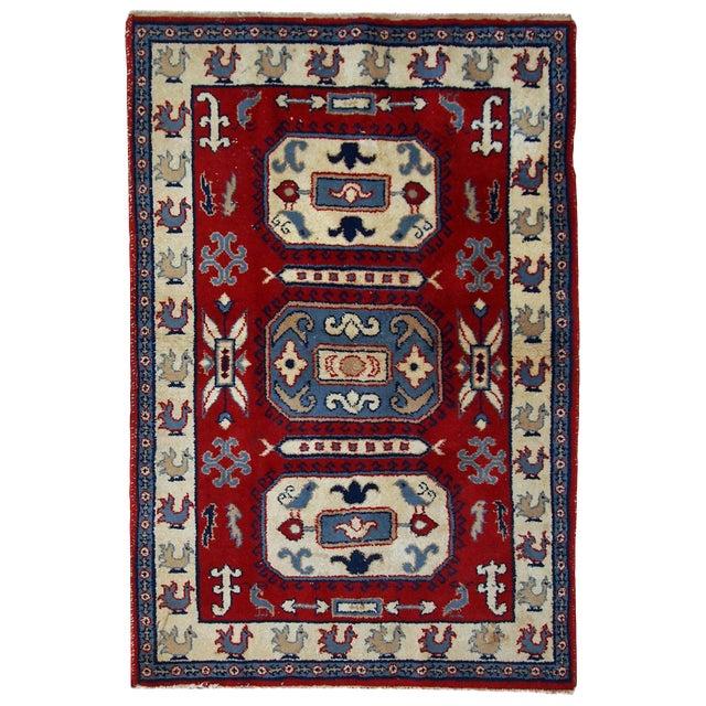 1970s Vintage Caucasian Kazak Rug - 4′ × 6′ - Image 1 of 10