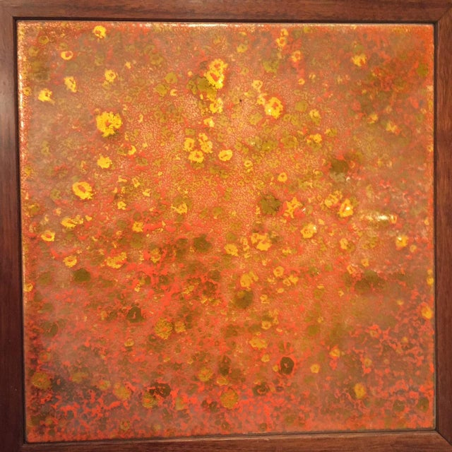John Keal for Brown Saltman Tile Top Table For Sale - Image 5 of 6