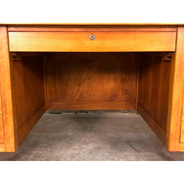 """Indiana Mid-Century Modern Executive Desk 30"""" X 60"""" Top For Sale - Image 10 of 13"""