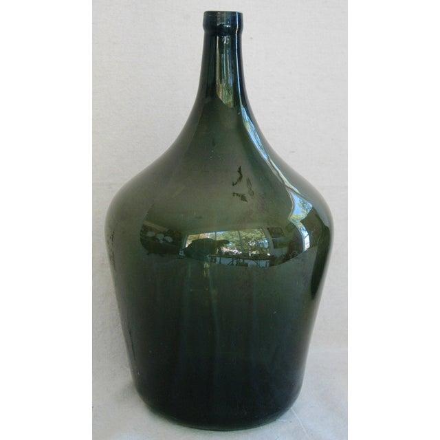 French Handblown Demijohn Bottles - Pair - Image 4 of 5