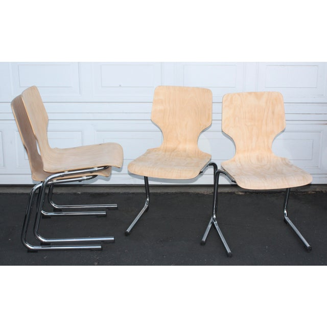 1960s West German Pagwood Chairs- Set of 4 - Image 5 of 6