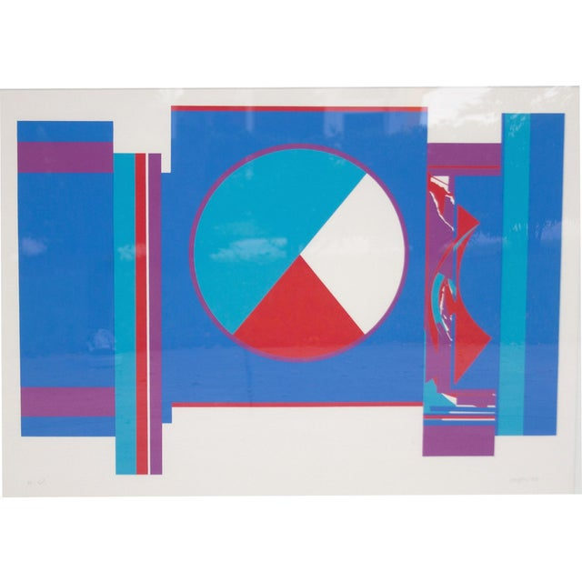 Original Budd Hopkins Untitled Abstract Expressional Serigraph, 1975 - Image 3 of 5