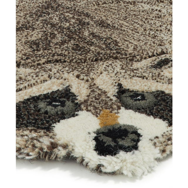 Shabby Chic Doing Goods Racoon Rug Large For Sale - Image 3 of 4