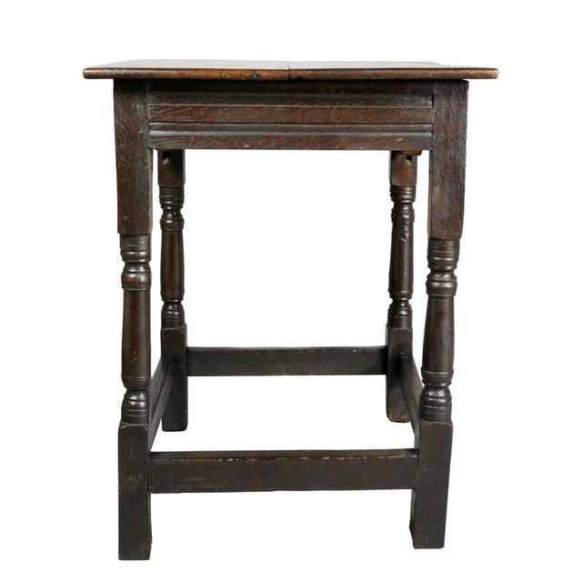 Black Jacobean Oak Table For Sale - Image 8 of 10