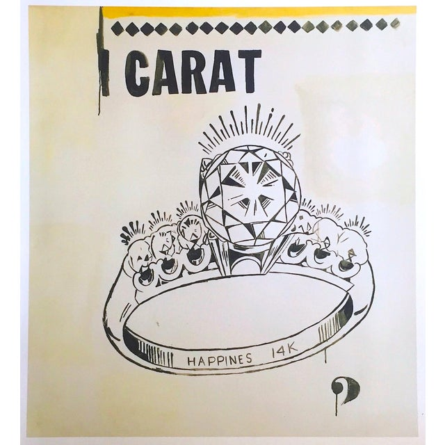 "Andy Warhol Foundation Lithograph Print Pop Art Poster "" 1 Carat Happiness "" 1961 For Sale - Image 11 of 11"