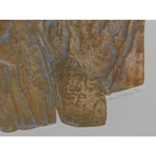 "Janet Jones ""Badlands"" Etching W/ Aquatint C.1983 For Sale - Image 9 of 11"