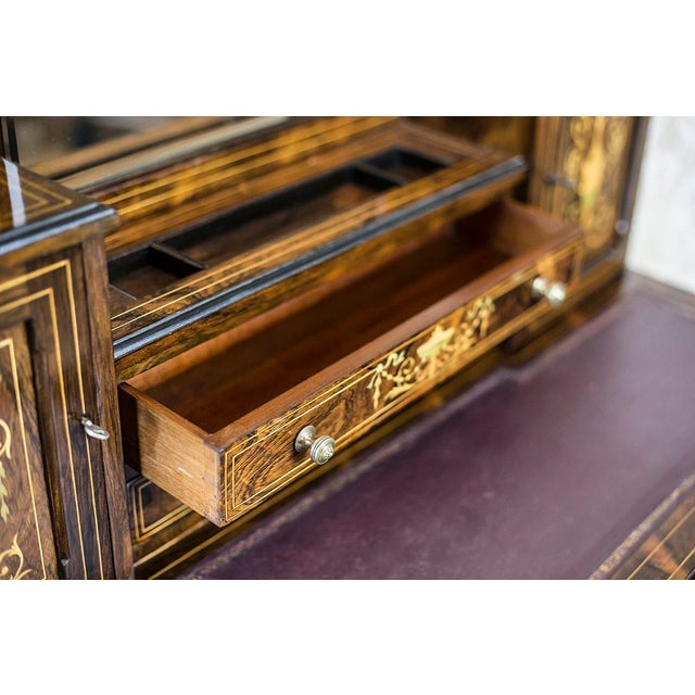 Neoclassical 19th Century Lady's Desk Veneered with Rosewood For Sale - Image 3 of 13