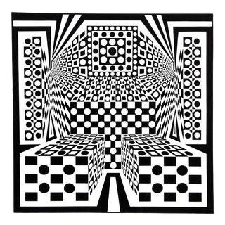 """1960s Roy Ahlgren, """"Desert Icon Iv"""", Op Art Screenprint For Sale"""