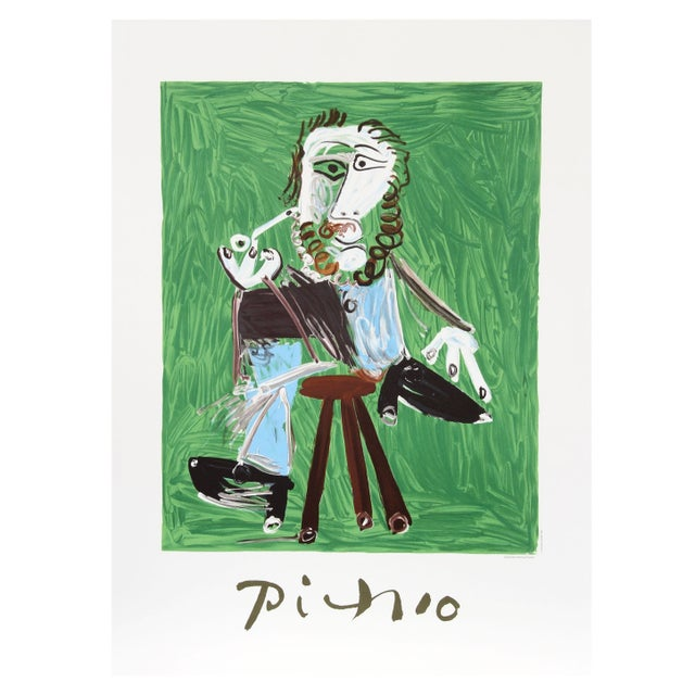 Pablo Picasso Homme a La Pipe Assise Sur Un Tabou For Sale