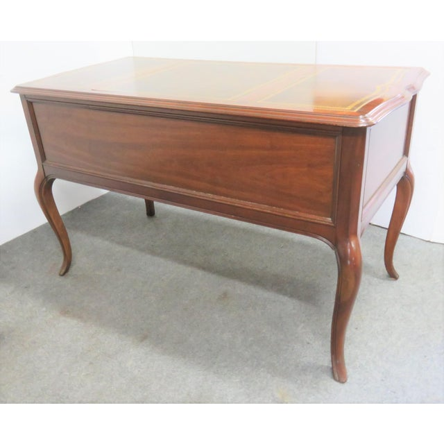 French Sligh French Style Leathertop Writing Desk For Sale - Image 3 of 9