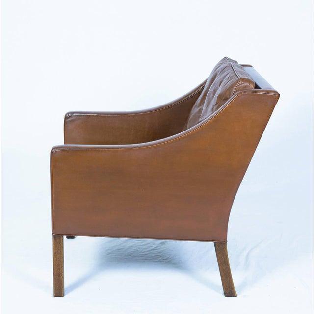 Børge Mogensen Børge Mogensen Model #2207 Leather Lounge Chair For Sale - Image 4 of 10