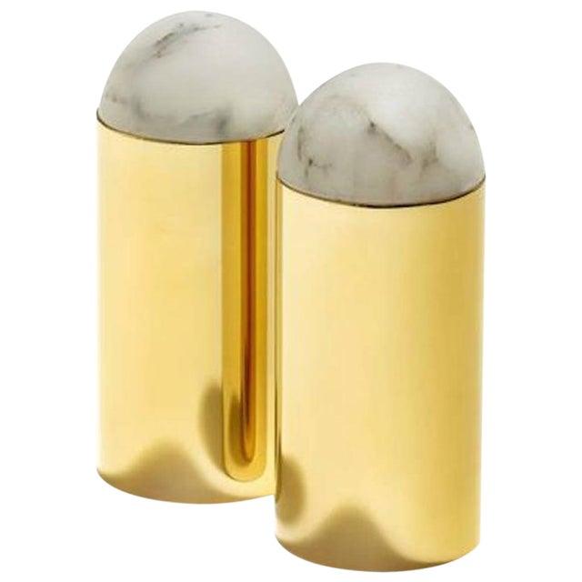 Gold Amare Salt and Pepper Set For Sale