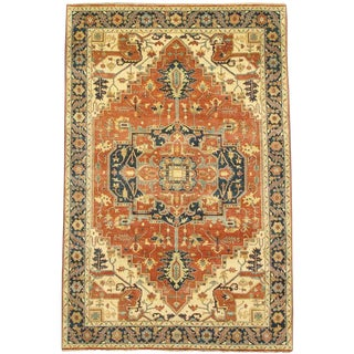 """Pasargad N Y Fine Serapi Design Hand-Knotted Rug - 5'9"""" X 8'9"""""""