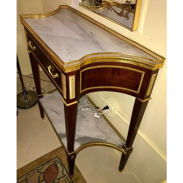 Russian Neoclassical Style Console/Server or Commode With Marble Top For Sale In New York - Image 6 of 13