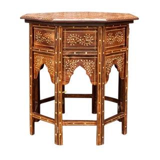 Moorish Inlaid Octagonal Table For Sale