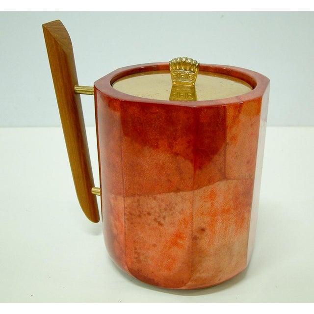 Mid-Century Modern 1950s Aldo Tura Goatskin Ice Bucket For Sale - Image 3 of 8
