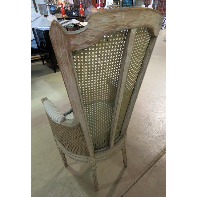 Wood Louis XV Style Armchair For Sale - Image 7 of 9