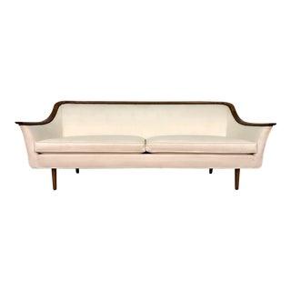 Drexel White Vinyl Mid-Century Danish Modern Sofa ~ 2-Available For Sale