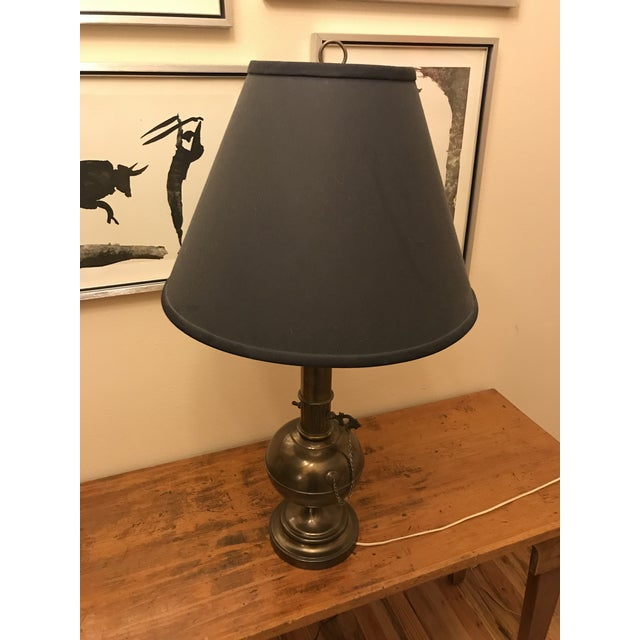 Industrial Steampunk Brass Table Lamp For Sale - Image 3 of 7