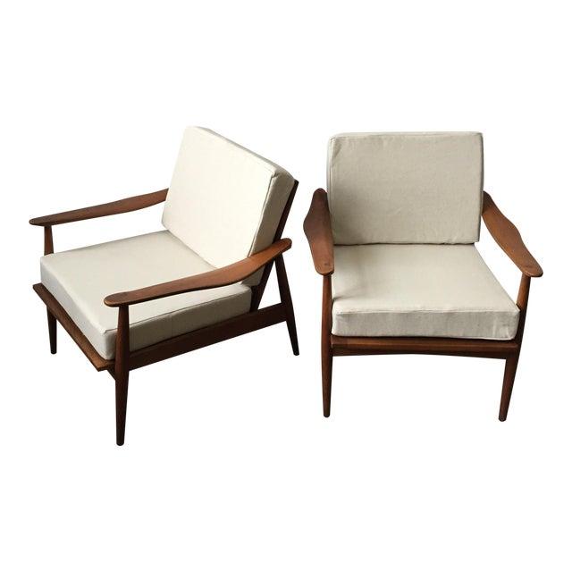 Oak Mid-Century Armchair-Single Chair - Image 1 of 11
