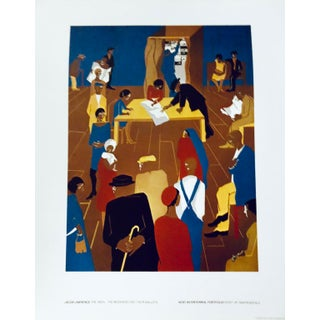 """Jacob Lawrence """"The 1920s: The Migrants Cast Their Ballots"""" Lithograph Poster From Kent Bicentennial Portfolio For Sale"""