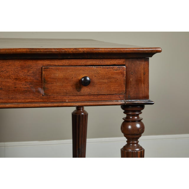 French Colonial Single-Piece Rosewood Top Desk For Sale - Image 12 of 13