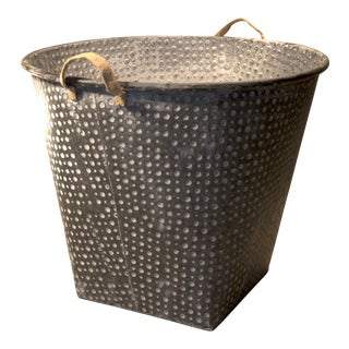 Large Hobnail Galvanized Iron Pail For Sale