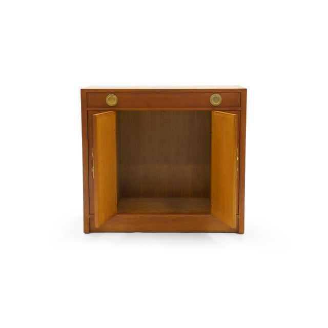 Campaign Dunbar Mahogany and Brass Four Doors One Drawer Cabinet For Sale - Image 3 of 9