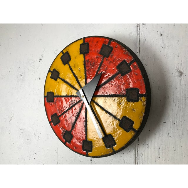 Mid-Century Modern 1960's Italian Ceramic Wall Clock by Bitossi & George Nelson For Sale - Image 12 of 13