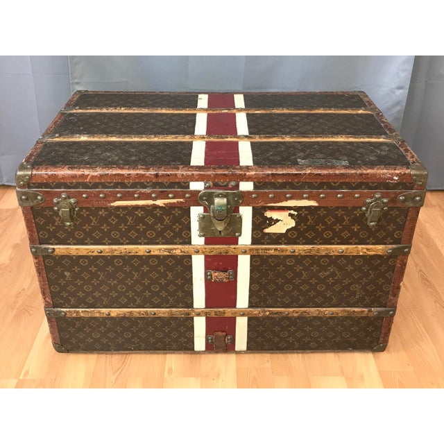 A fantastic 1950s Louis Vuitton Lady's trunk with monogram canvas exterior and modular interior. Exterior clad in...