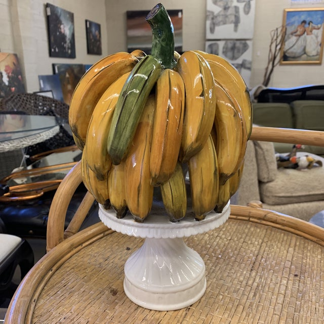 Italian Ceramic Banana Bunch Compote For Sale - Image 9 of 10