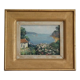 "French ""Brehat Brittany"" Oil Painting by Andre Beronneau For Sale"
