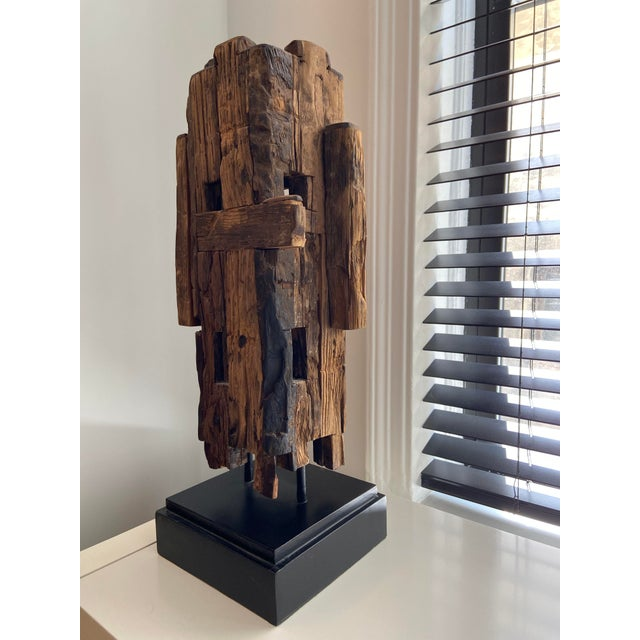 Mid-Century Modern Abstract Mid-Century Style Wooden Sculpture For Sale - Image 3 of 4