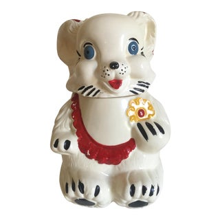 Vintage 1940's Royal Ware Smiling Bear Ceramic Cookie Jar For Sale