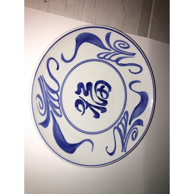 Chinese 1970s Blue & White Chinese Bowl Decor For Sale - Image 3 of 7