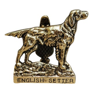 Brass English Setter Dog Door Knocker